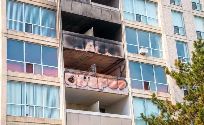 Wall Fire Restoration – 644 Sheppard Ave